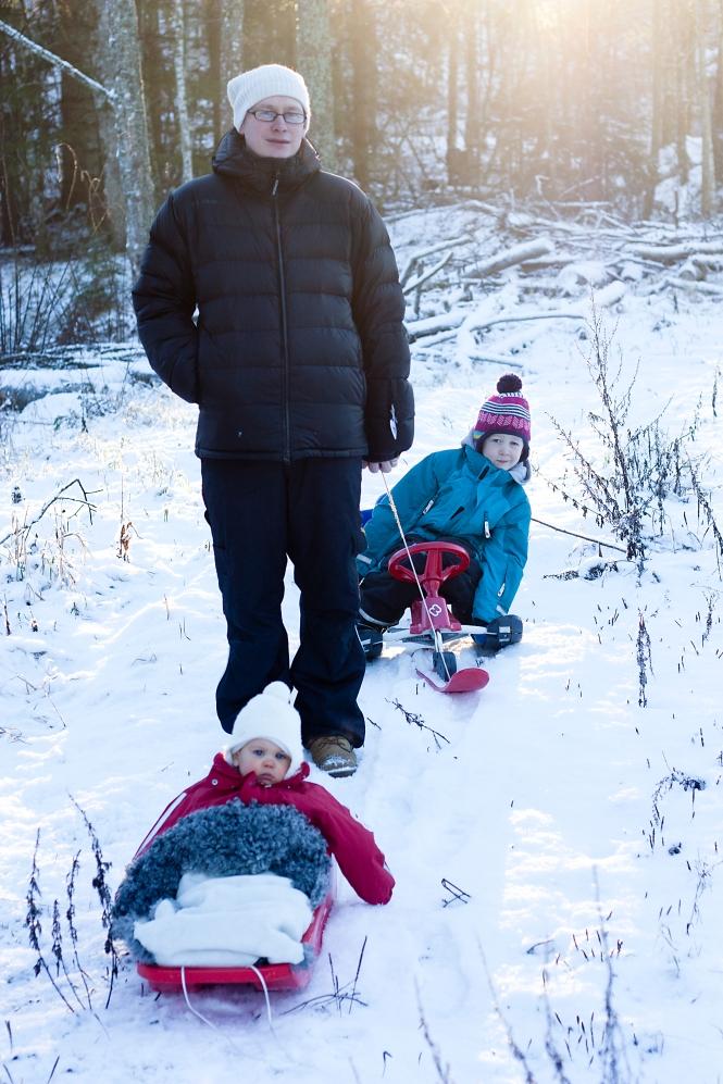 Tur i snön